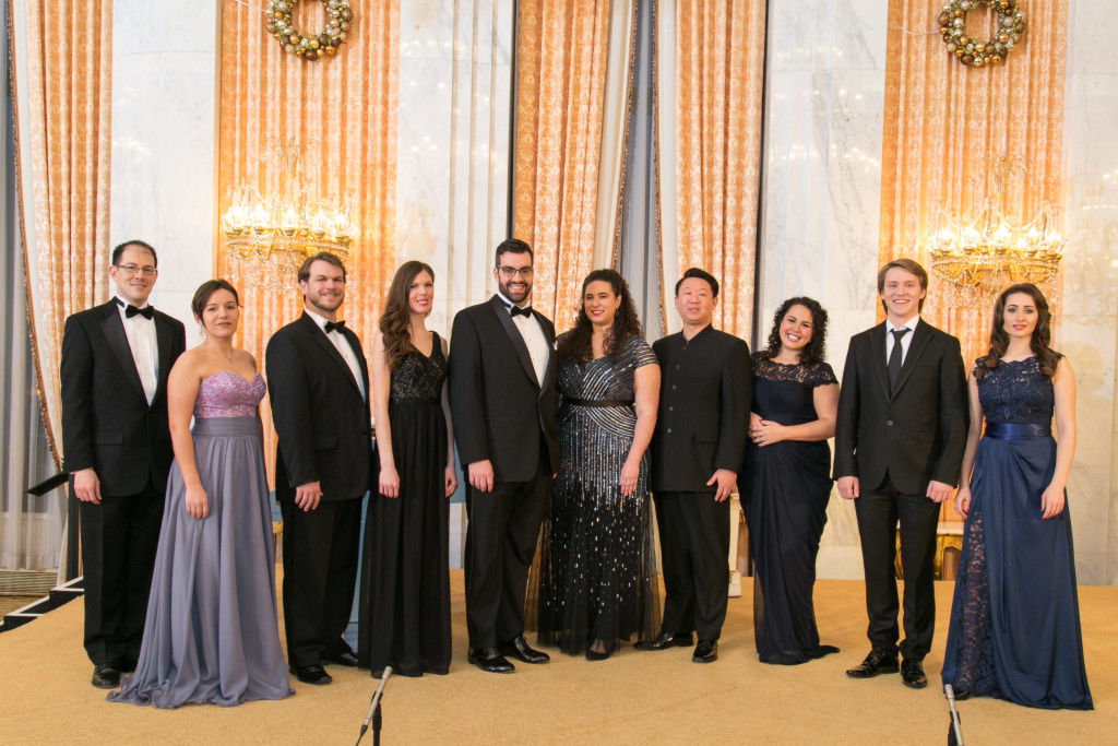 Hunter and other members of WNO's Young Artist Program